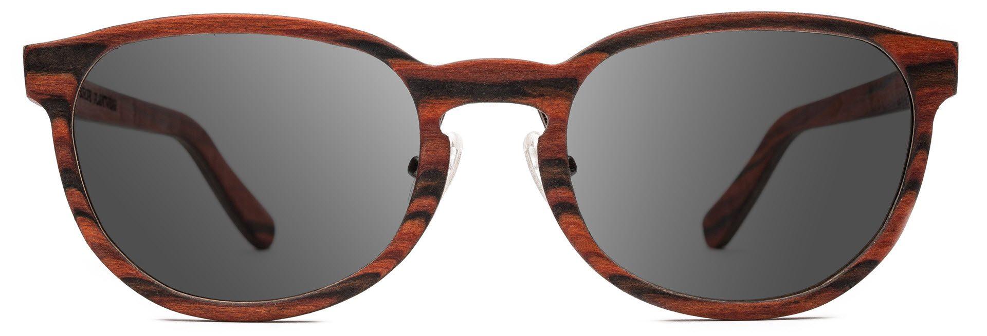 Drewniane okulary Ambition Series – Rosewood – Grey 1