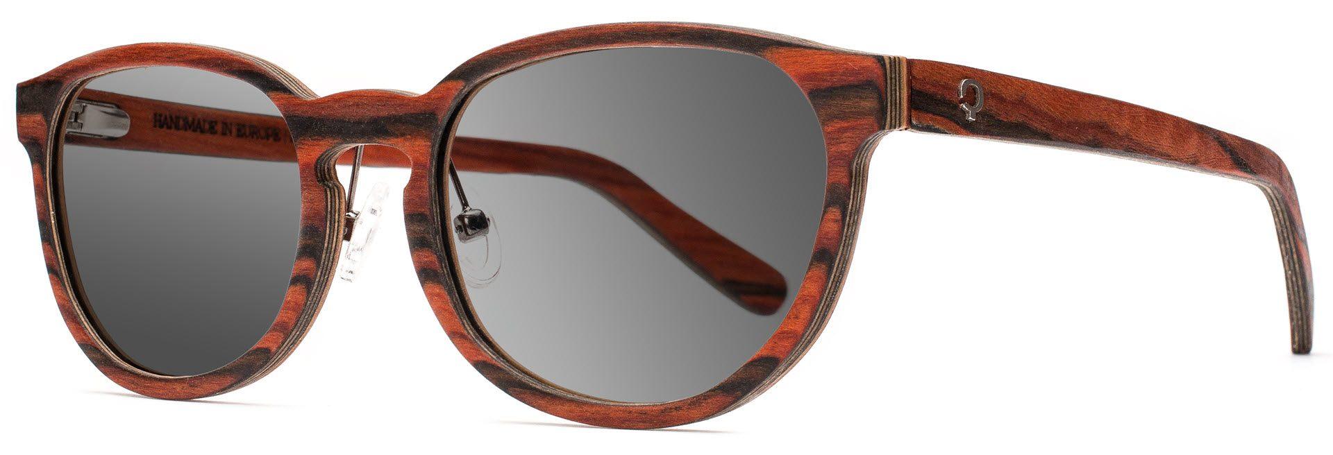 Drewniane okulary Ambition Series – Rosewood – Grey 2