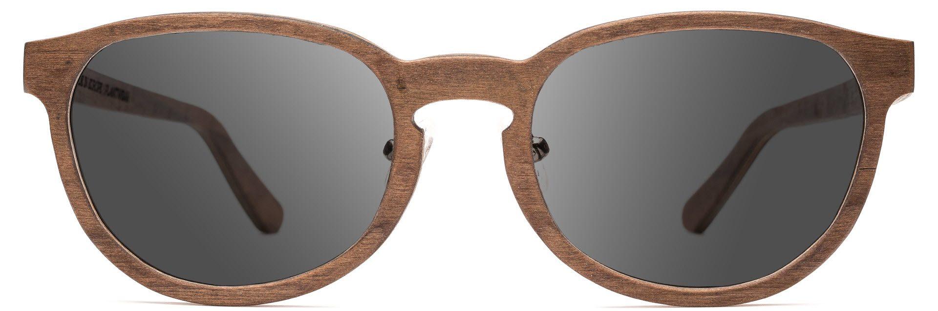 Drewniane okulary Ambition Series – Walnut – Grey 1