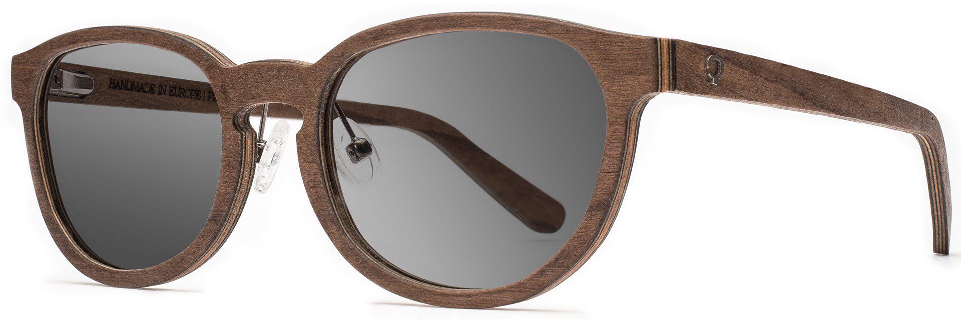 Drewniane okulary Ambition Series – Walnut – Grey 2