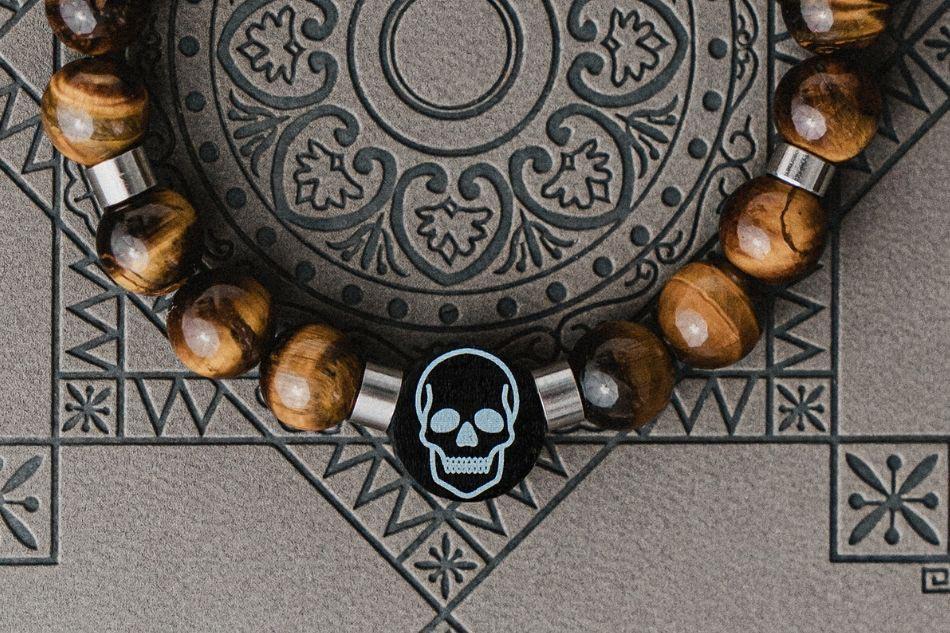 bransoletka z czaszką