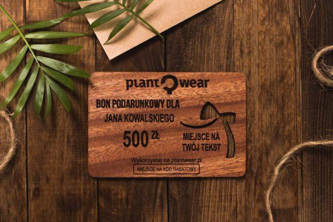 drewniane akcesoria plantwear bon podarunkowy