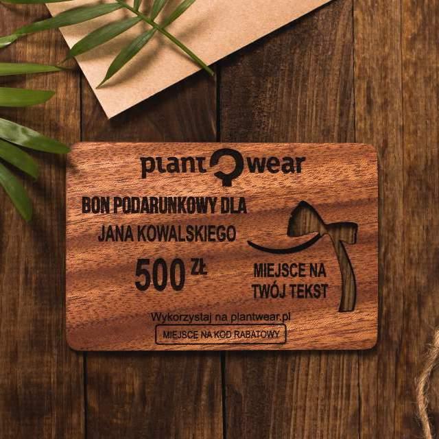 bon podarunkowy plantwear
