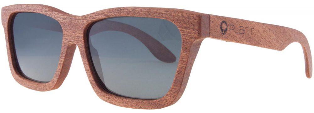 Drewniane okulary Classic Mahogany Grey 2