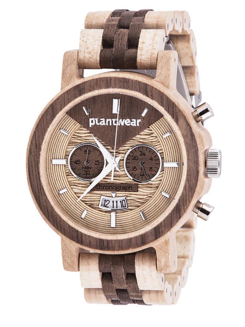 Drewniany-zegarek-Chronograph-Klon-Orzech-1