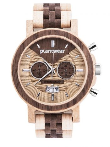 Drewniany-zegarek-Chronograph-Klon-Orzech-2