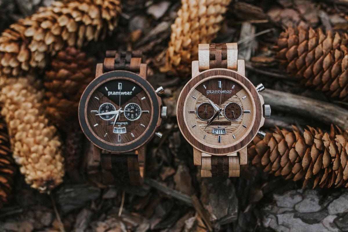 Drewniany zegarek Chronograph Klon Orzech aranzacje
