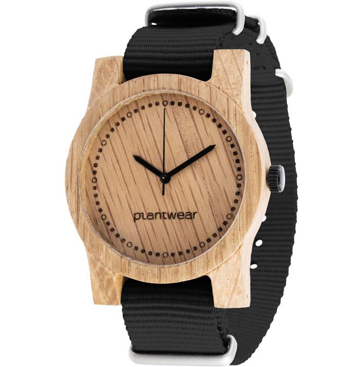 Drewniany-zegarek-basic-pasek-czarny_bok
