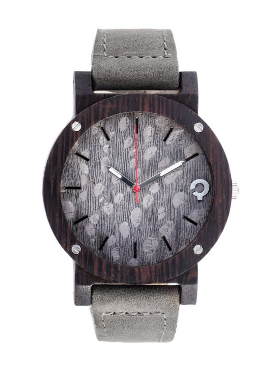 Drewniany Zegarek – Flake Series – Grey 1