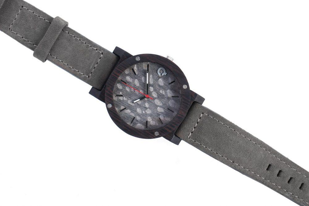 Drewniany Zegarek – Flake Series – Grey 3