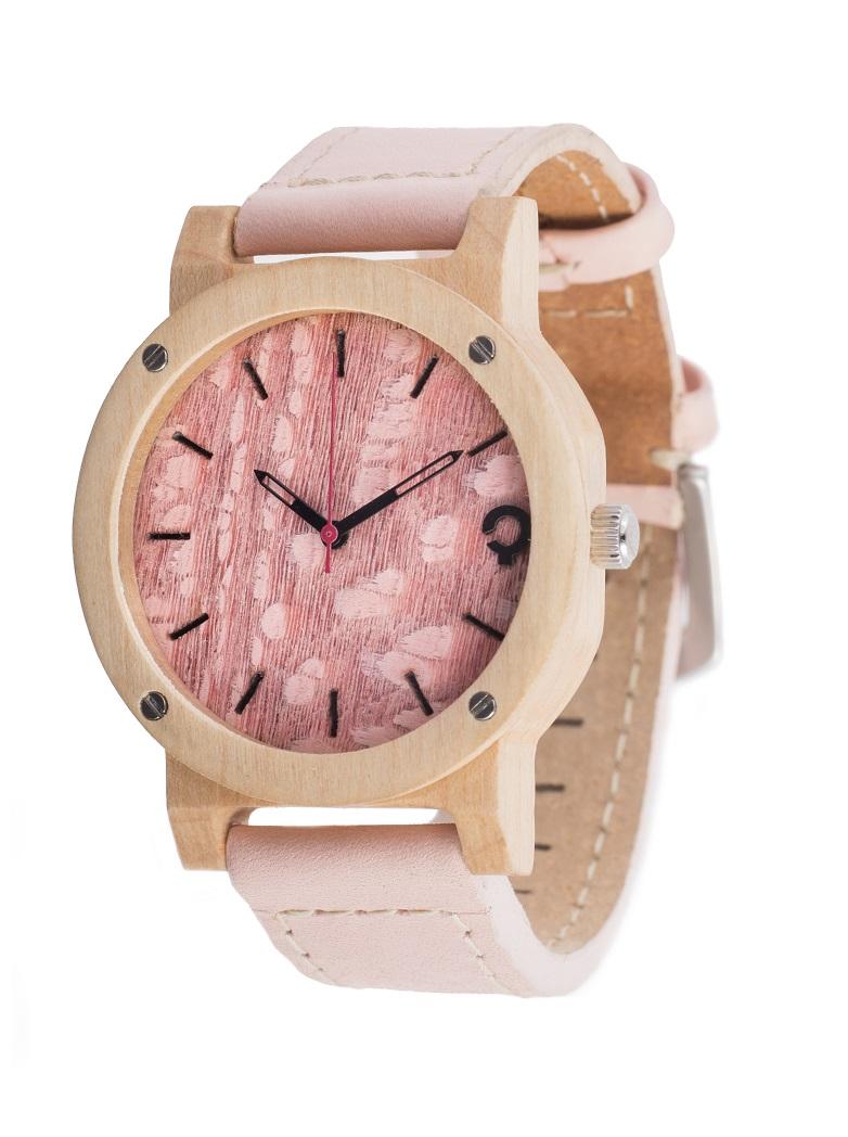 Drewniany zegarek Flake Series – Rose 2