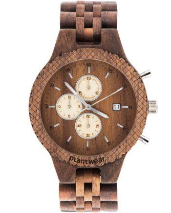 drewniany zegarek fox orzech