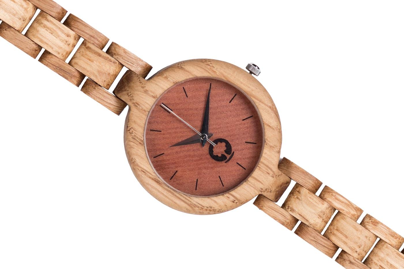 Drewniany zegarek Glamour Oak 3