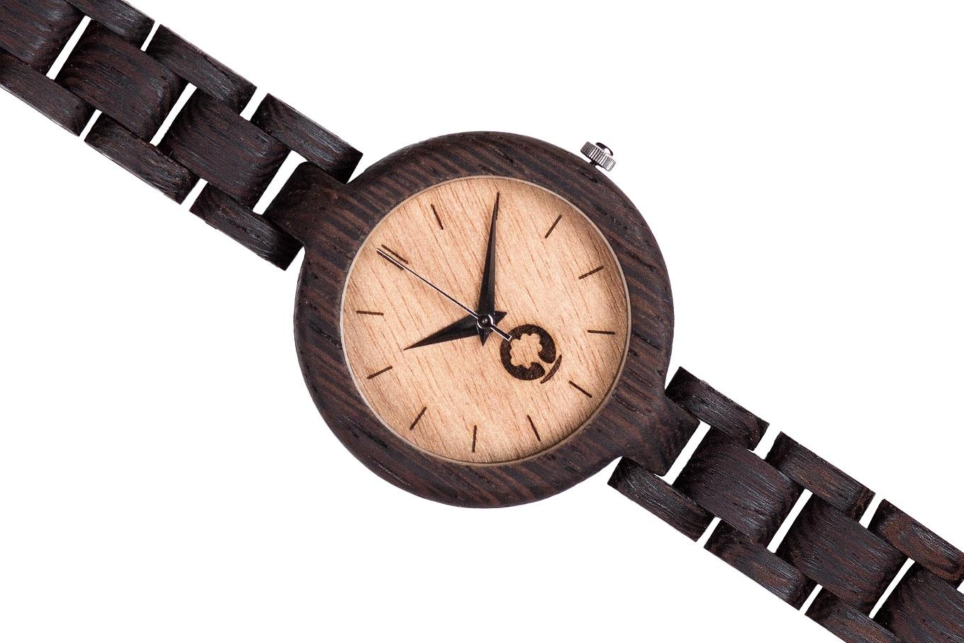 Drewniany zegarek Glamour Wenge 3