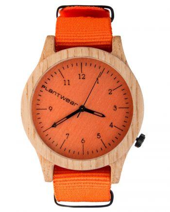 drewniany zegarek Heritage Orange Edition Dąb