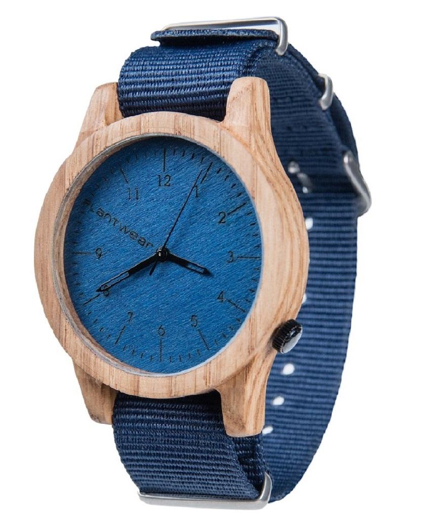 Drewniany zegarek Heritage Series – Blue edition – Oak 2