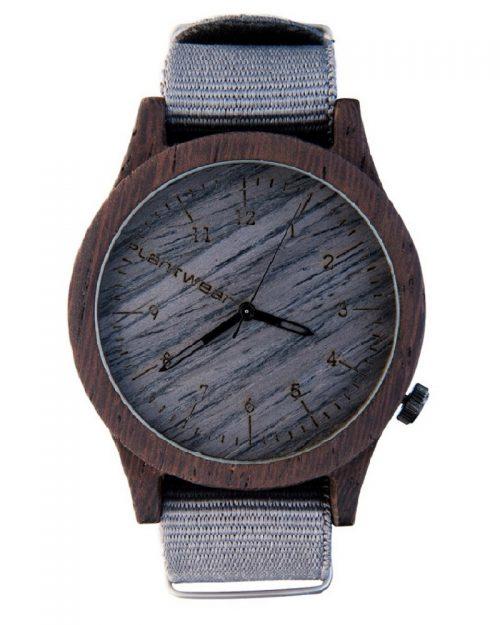 drewniany zegarek Heritage Grey Edition Heban
