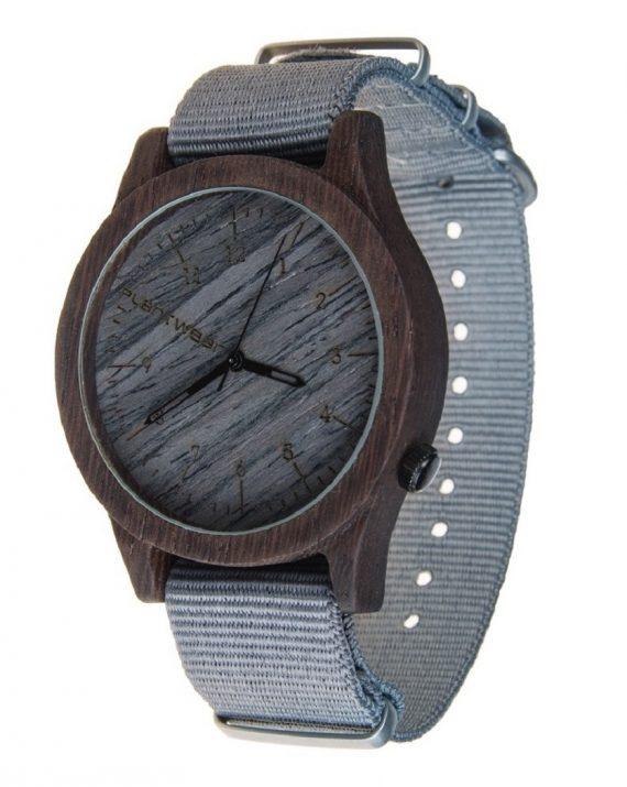 Drewniany zegarek Heritage Series – Grey edition – Ebony 2