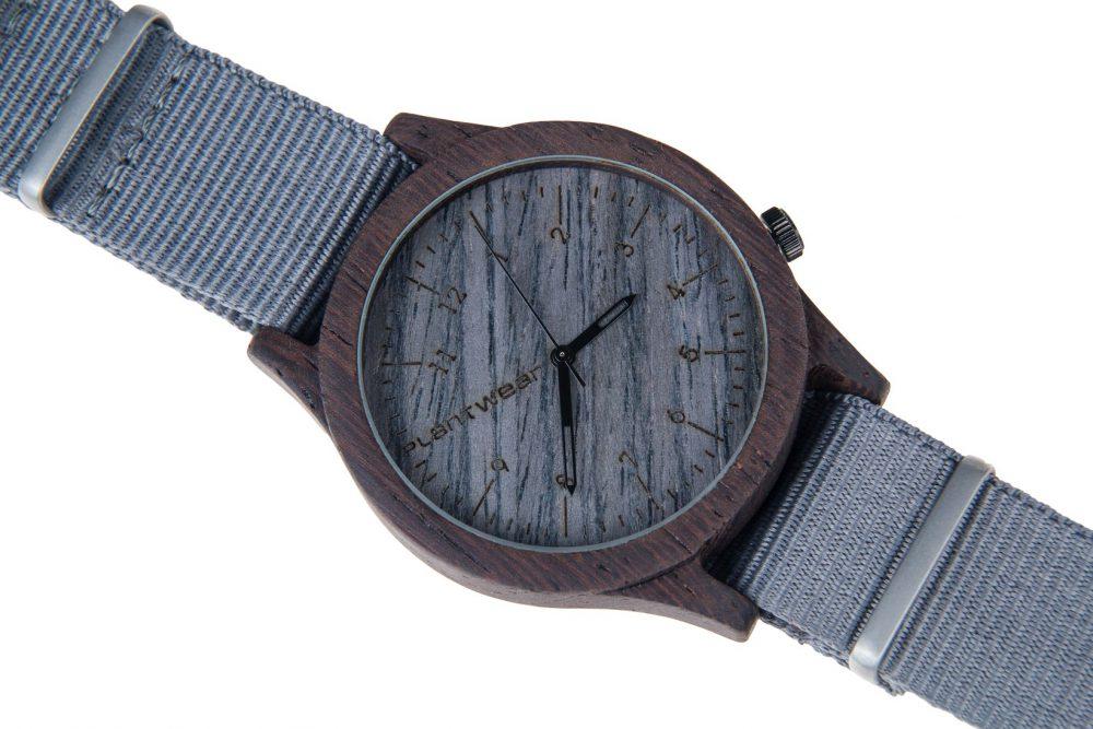 Drewniany zegarek Heritage Series – Grey edition – Ebony 3