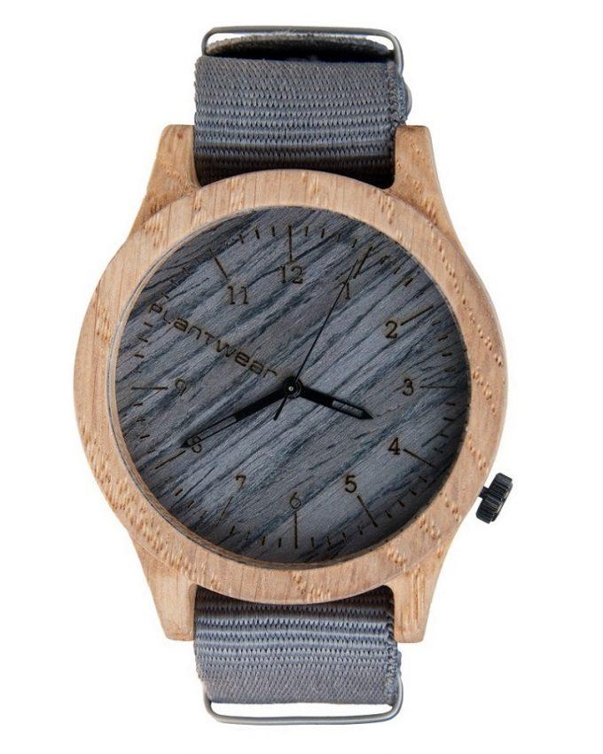 drewniany zegarek Heritage Gray Edition Dąb