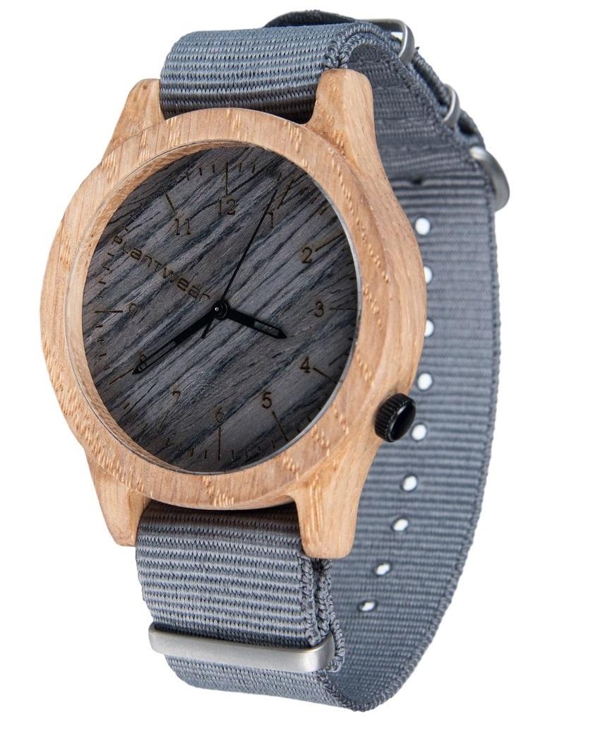 Drewniany zegarek Heritage Series – Grey edition – Oak 2