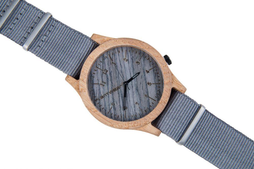 Drewniany zegarek Heritage Series – Grey edition – Oak 3