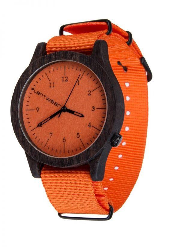 Drewniany zegarek Heritage Series – Orange edition – Ebony 2