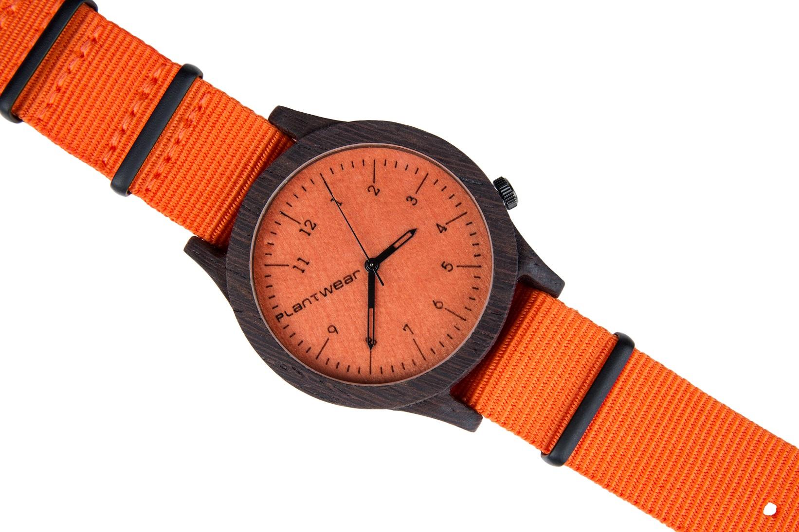 Drewniany zegarek Heritage Series – Orange edition – Ebony 3