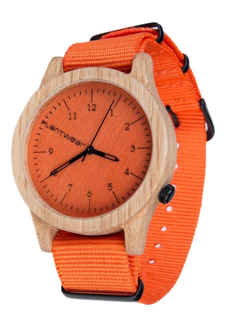 Drewniany zegarek Heritage Series – Orange edition – Oak 2