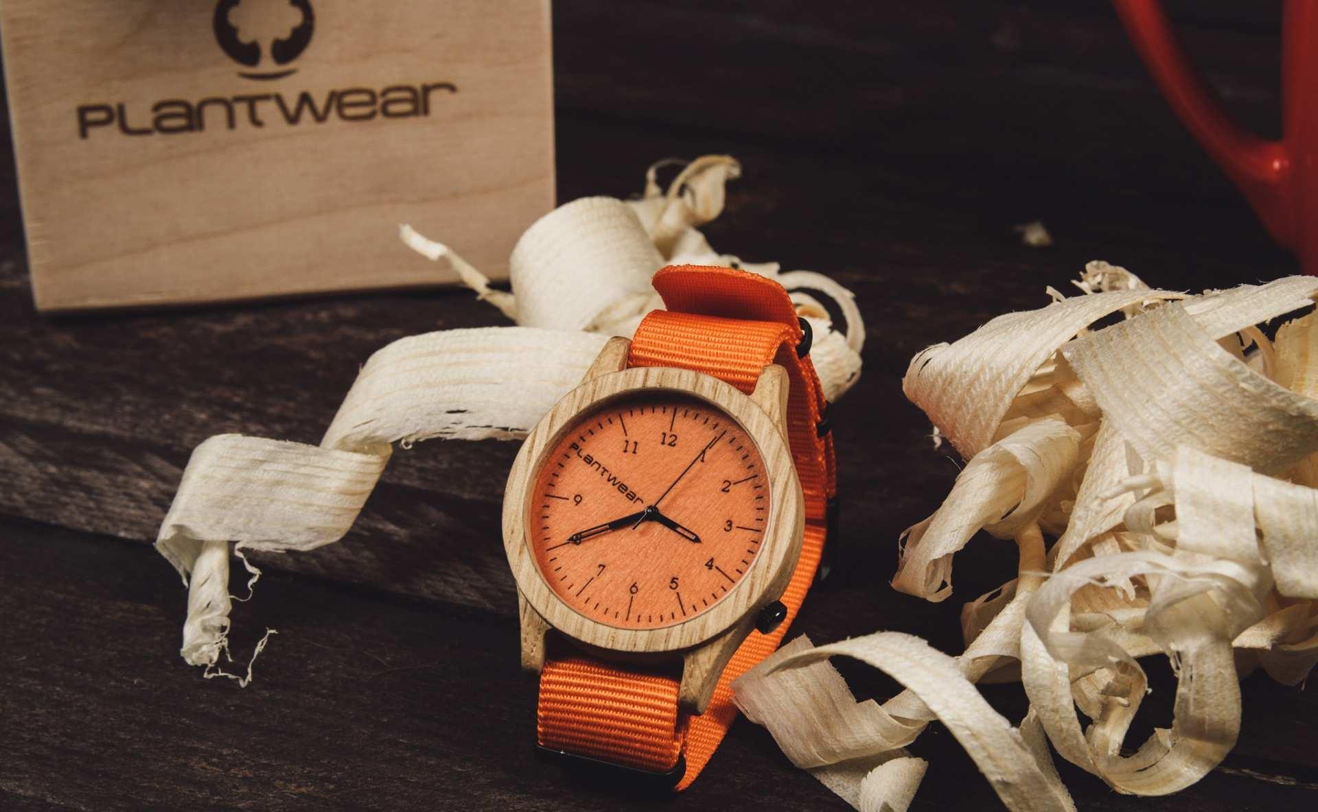Drewniany zegarek Heritage Series - Orange edition - Oak