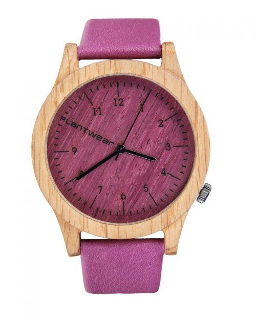 drewniany zegarek heritage Pink Edition Dąb