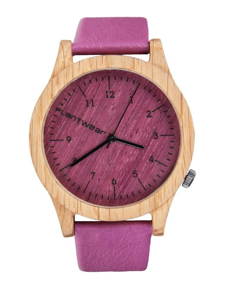 Drewniany zegarek Heritage Series – Pink edition – Oak 1