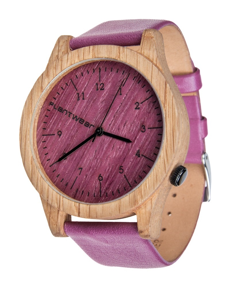 Drewniany zegarek Heritage Series – Pink edition – Oak 2