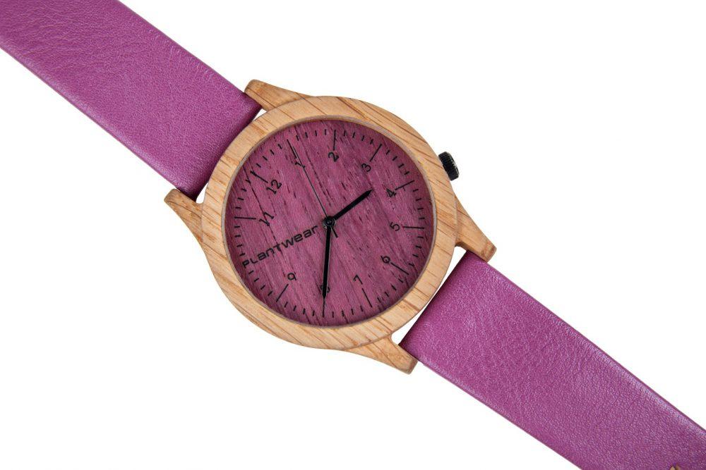 Drewniany zegarek Heritage Series – Pink edition – Oak 3