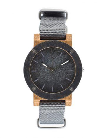 drewniany zegarek Raw Double Stone MINI Dąb