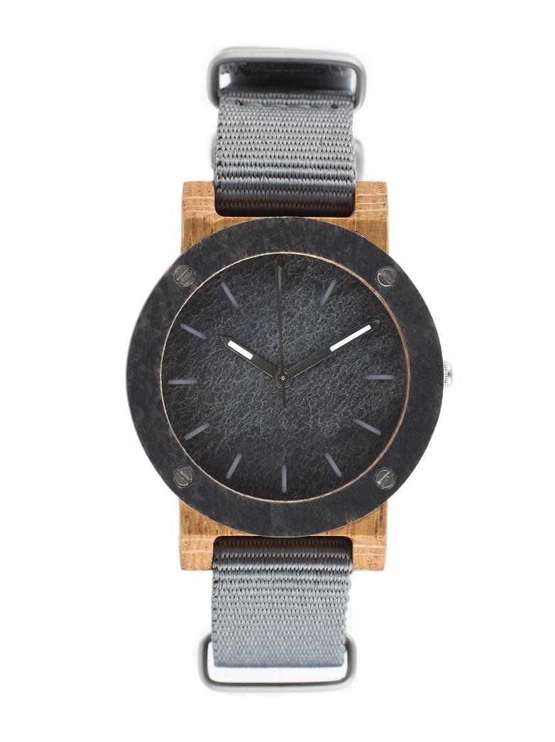 Drewniany zegarek MINI Raw Double Oak 1