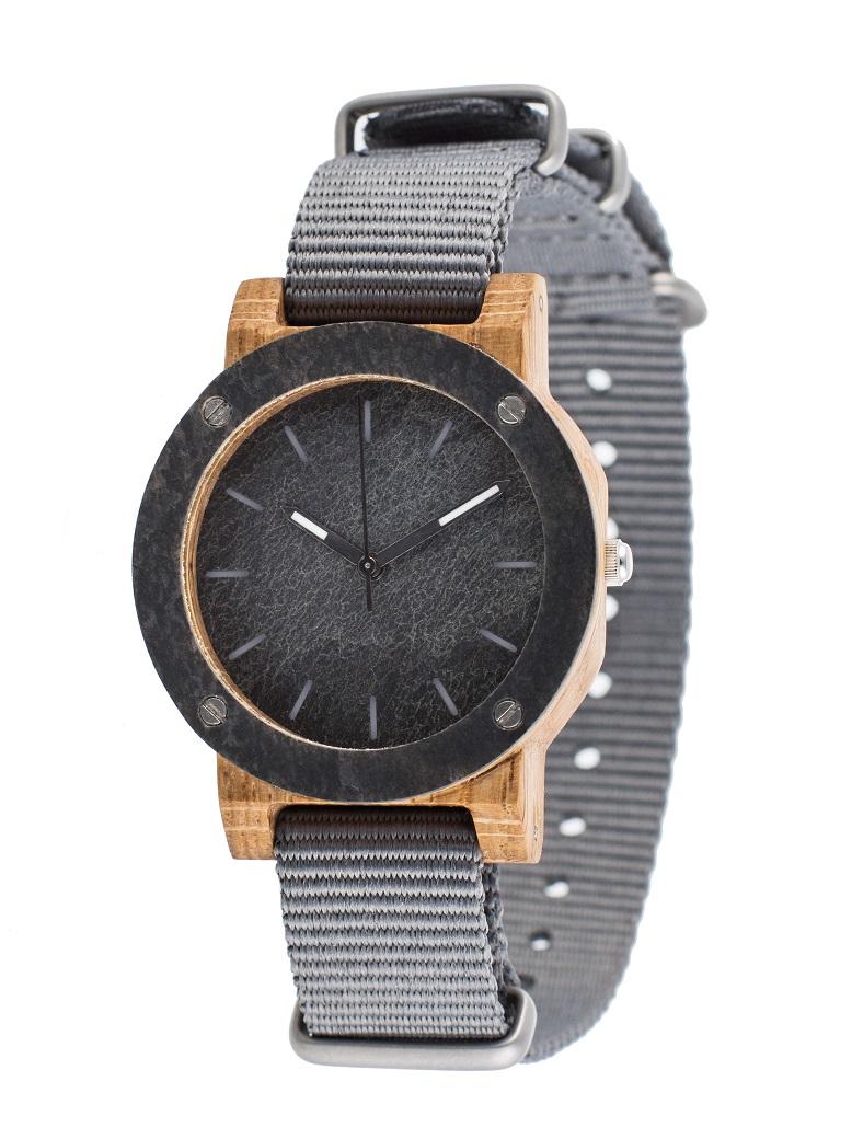 Drewniany zegarek MINI Raw Double Oak 2
