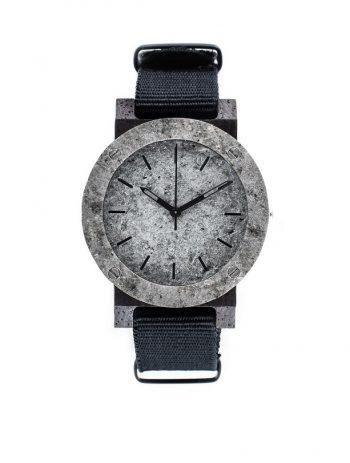 drewniany zegarek Raw Double Silver Mini Heban