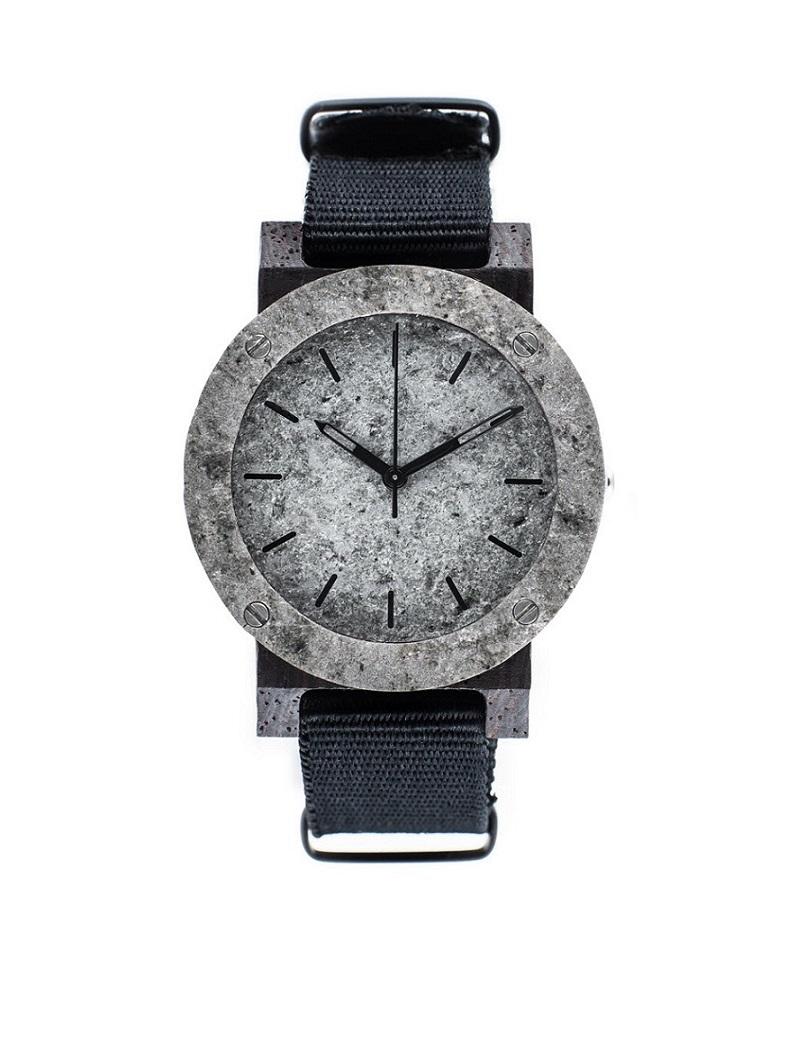 Drewniany zegarek MINI Raw Silver Ebony 1