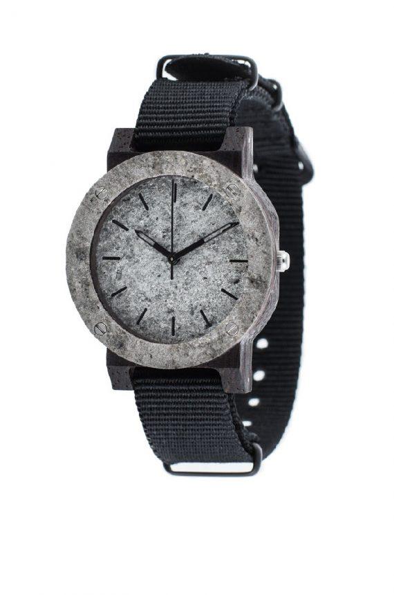 Drewniany zegarek MINI Raw Silver Ebony 2