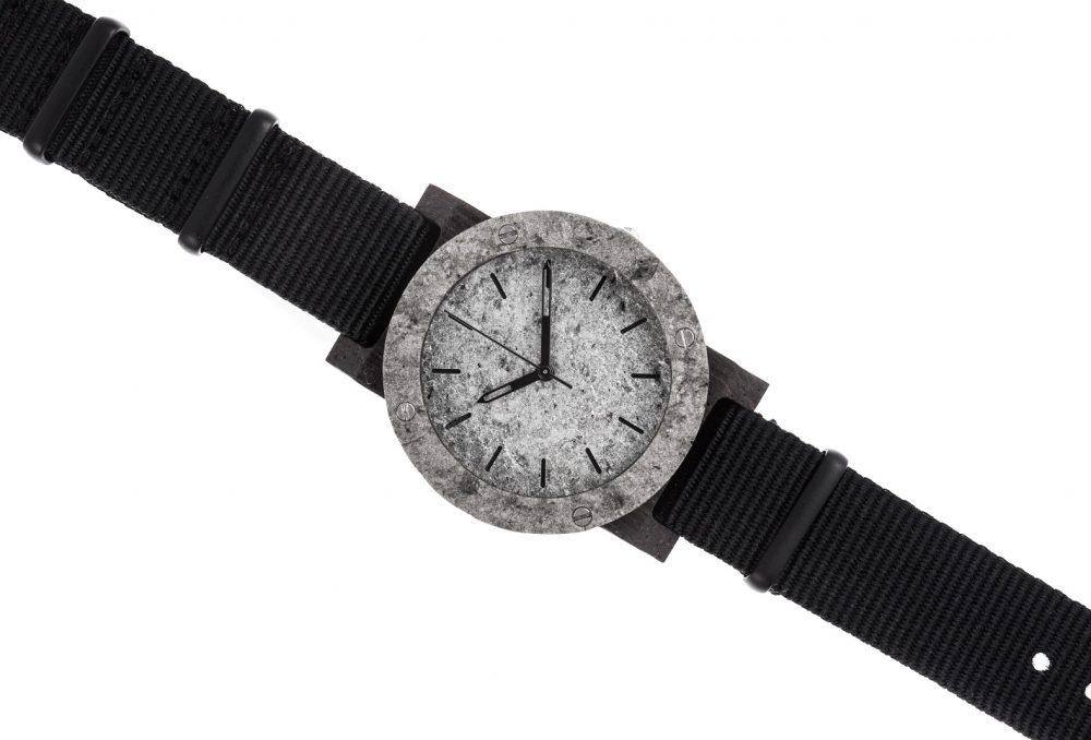 Drewniany zegarek MINI Raw Silver Ebony 3