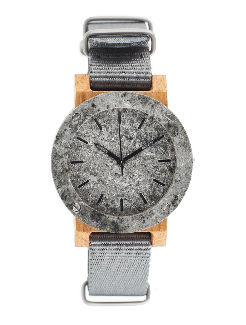 Drewniany zegarek MINI Raw Silver Oak 1