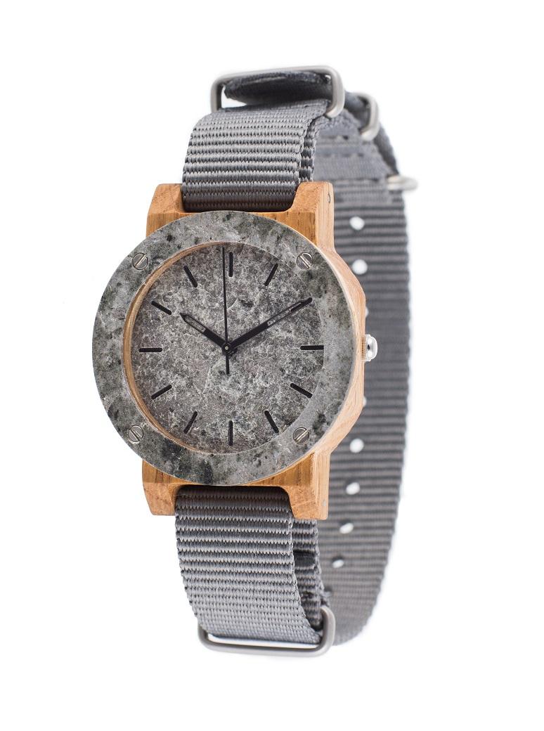 Drewniany zegarek MINI Raw Silver Oak 2