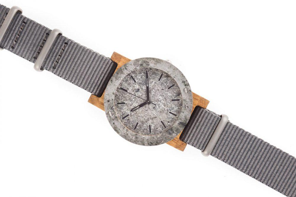 Drewniany zegarek MINI Raw Silver Oak 3