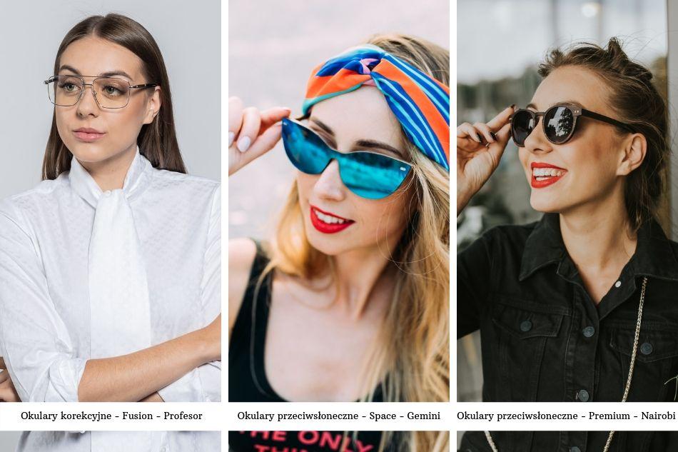 drewniane okulary
