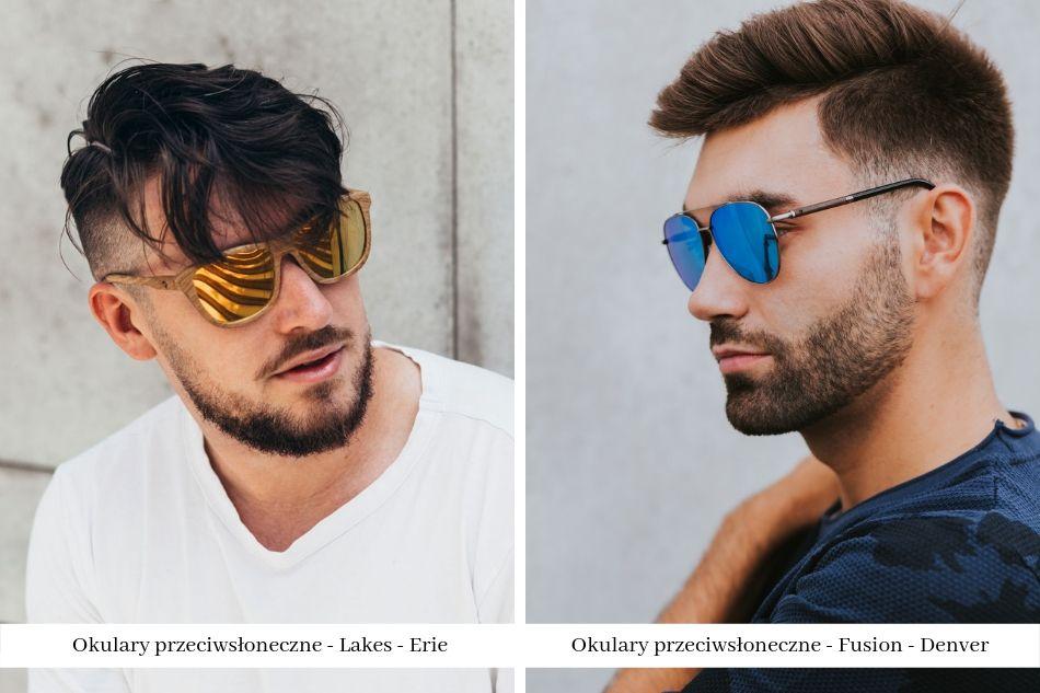 okulary z drewna