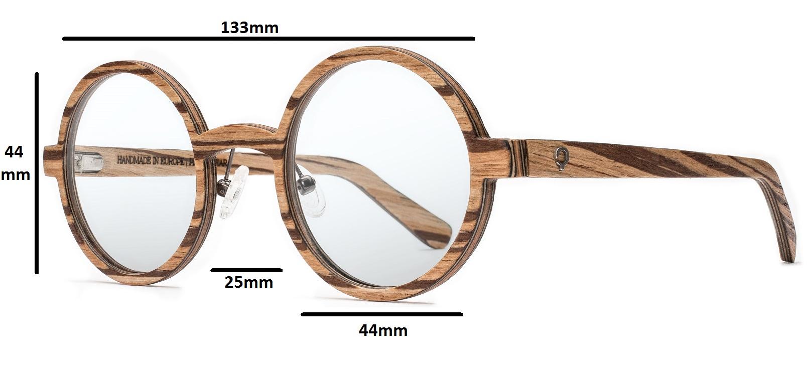 drewniane okulary oval