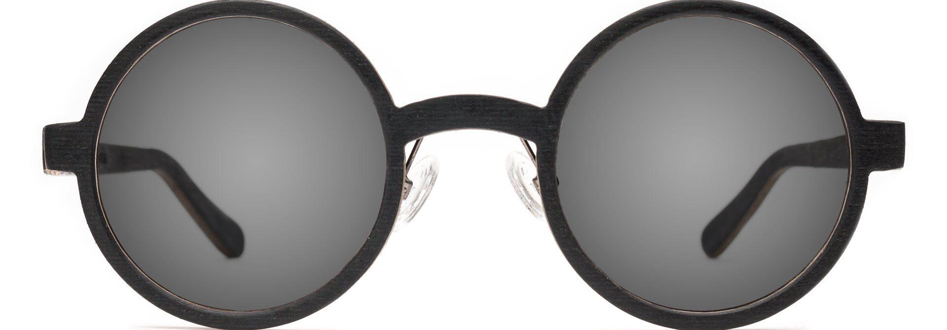 Drewniane okulary Oval Series – Wenge – Grey 1