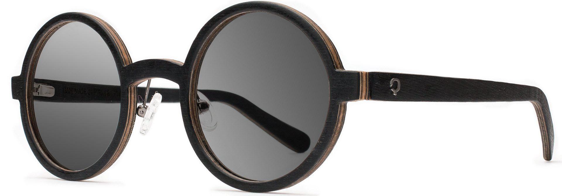 Drewniane okulary Oval Series – Wenge – Grey 2