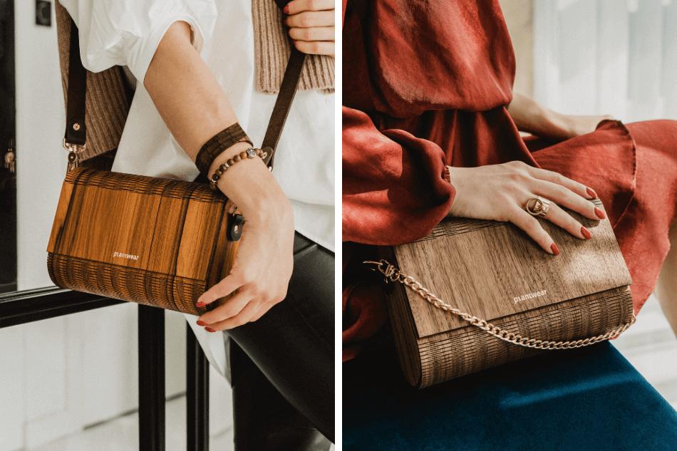 drewniane torebki